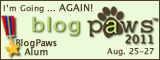 BlogPaws 2011 I'm Going AGAIN Badge - 160x60