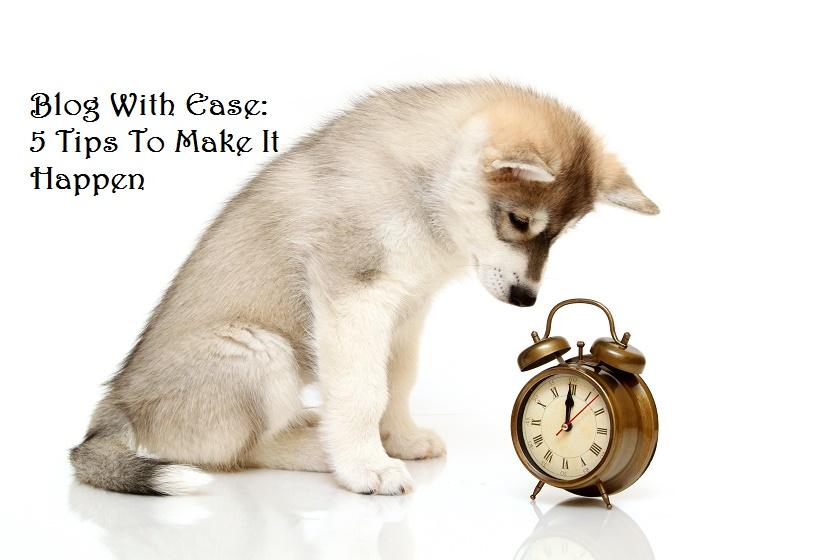 make time to blog