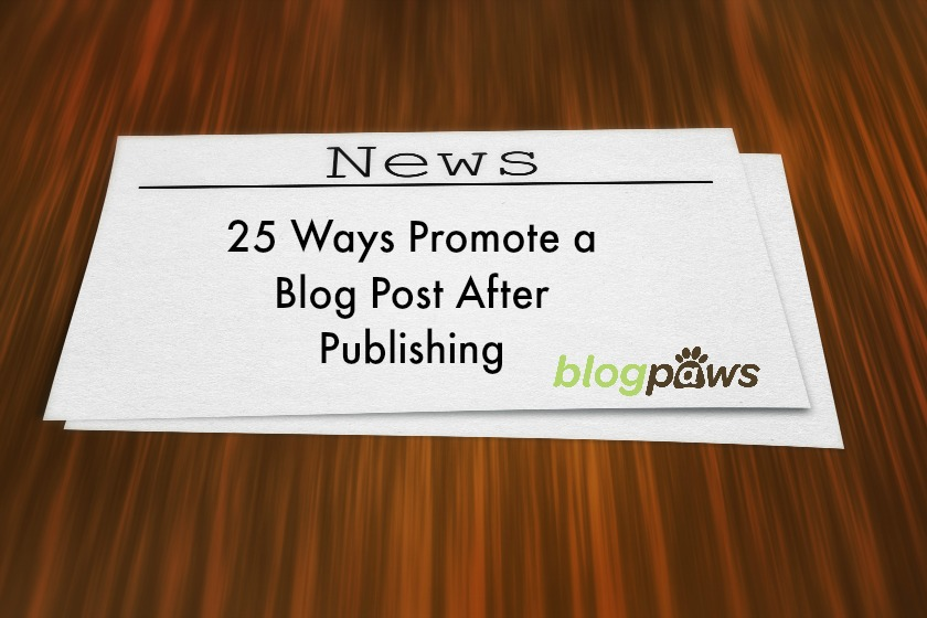 How to promote a blog post