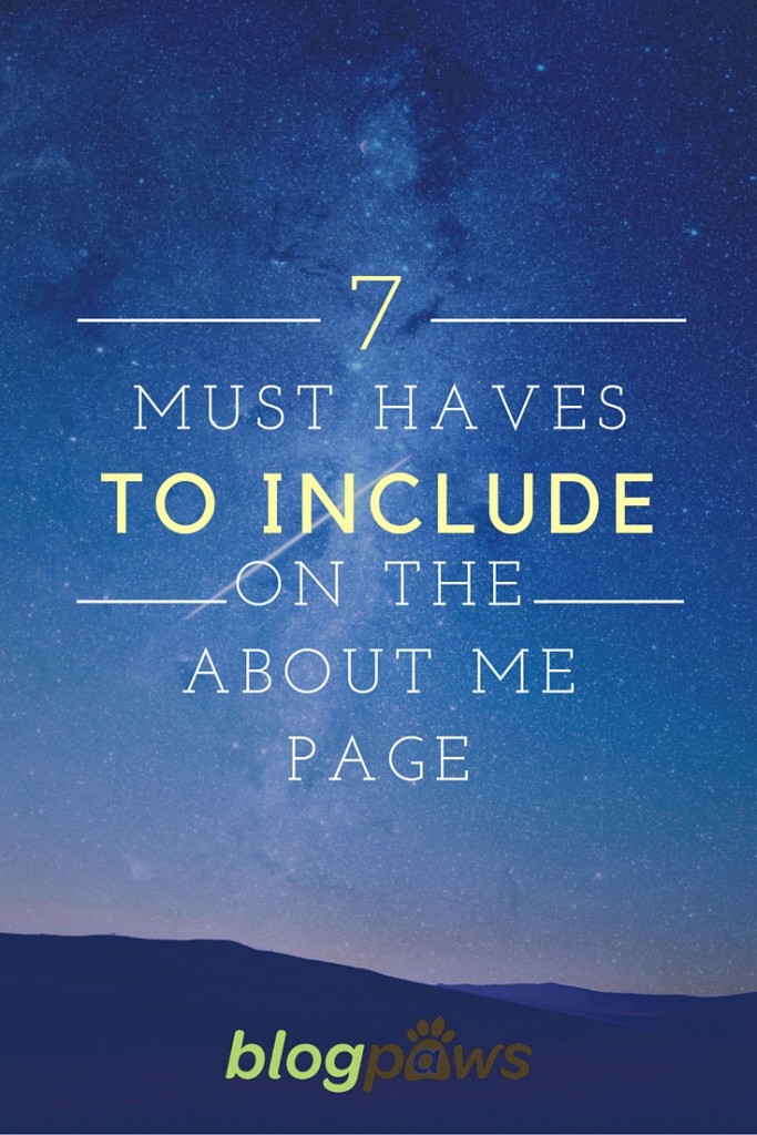 About Me Page tips