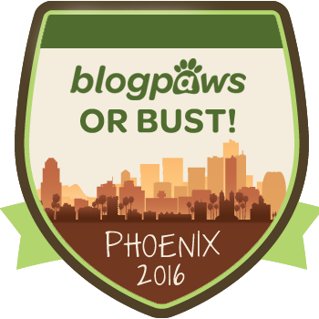 BlogPaws or Bust badge