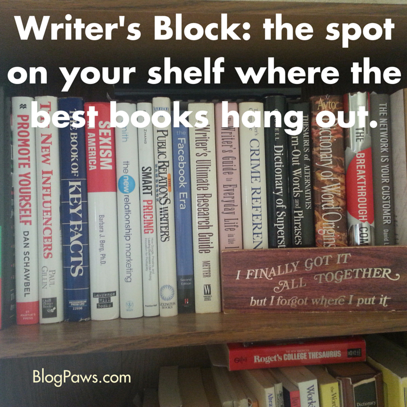 Your Book Shelf and Writer's Block