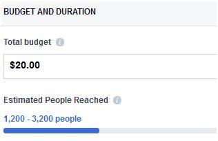 Facebook ad budget