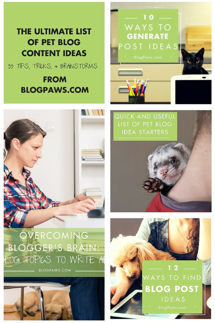 The Ultimate List of Pet Blog Content Ideas