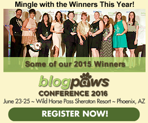 BlogPaws 2016 Nose-to-Nose Mingle Ad