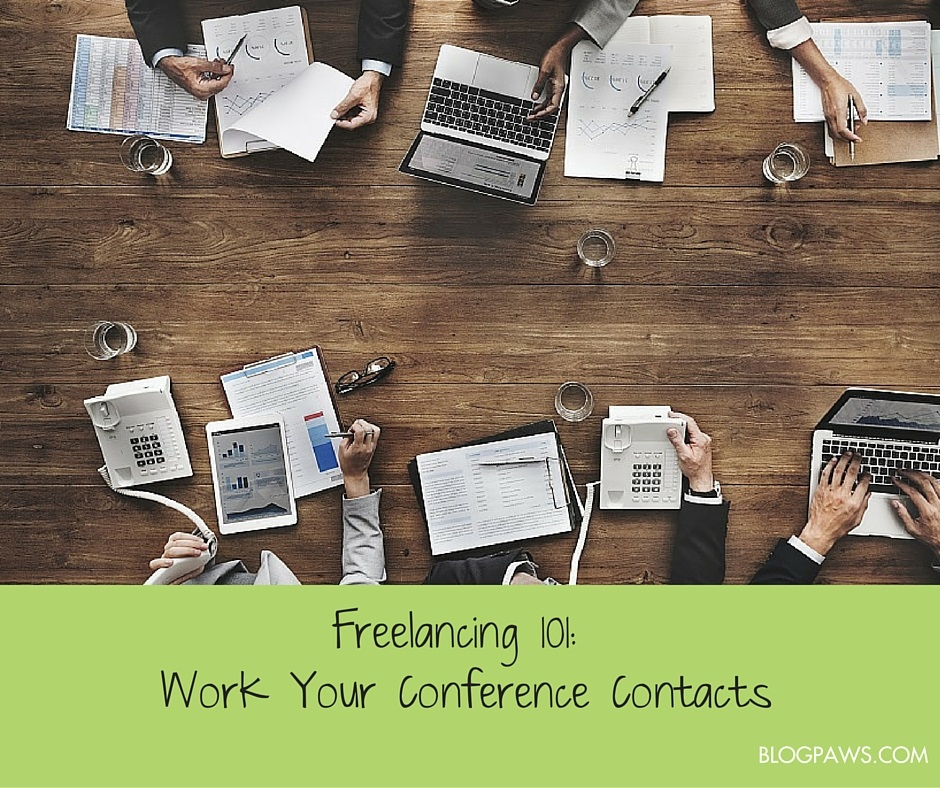 how to work conference contacts