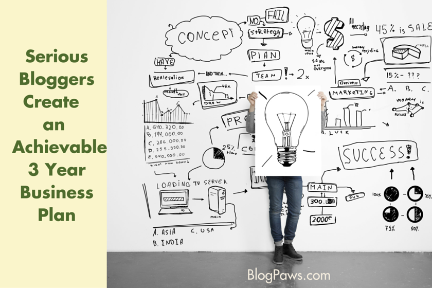 Serious Bloggers Create an Achievable 3 Year Business Plan