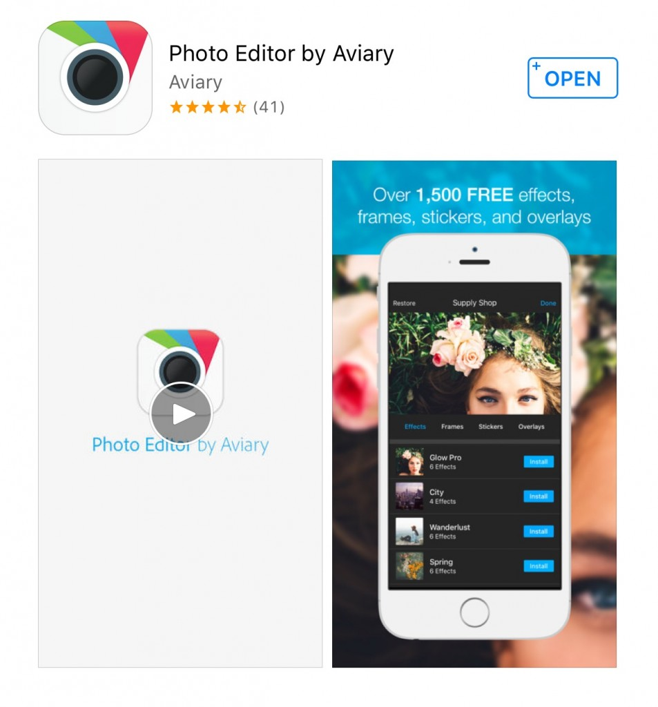 Aviary photo app