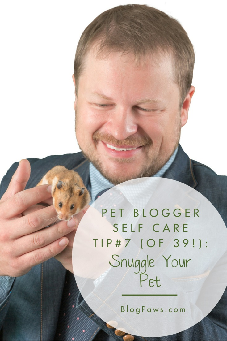 self care tip snuggle your pet