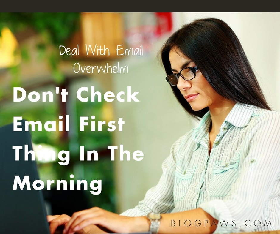 deal with email overwhelm