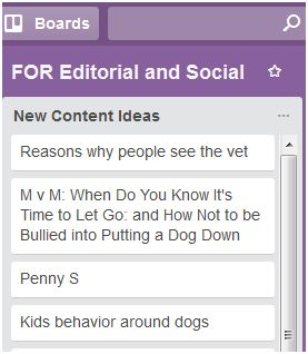 Content ideas for Trello