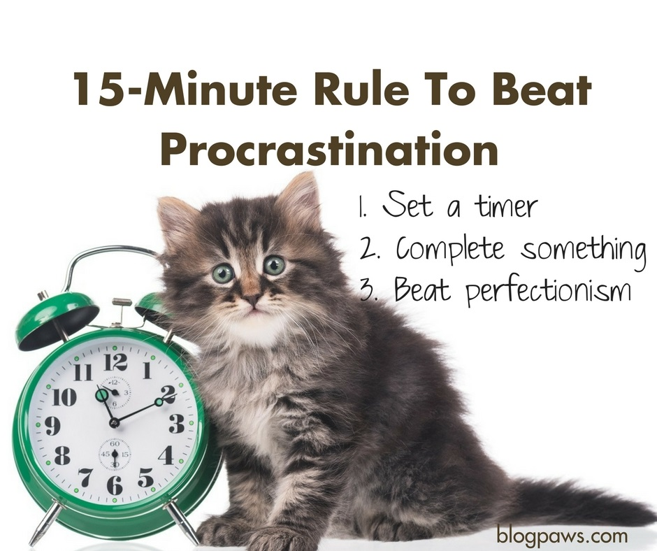 15 minute rule to beat procrastination