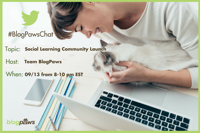 RSVP #BlogPawsChat Social Learning Community