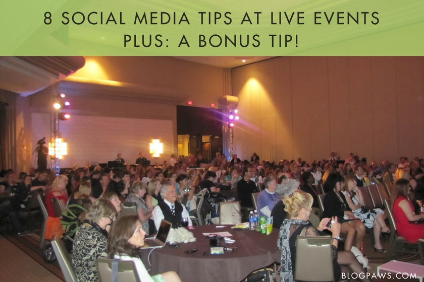 Here are 8 tips for connecting on social media during a live event