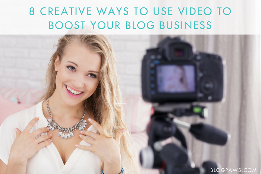 Blog as a business with video
