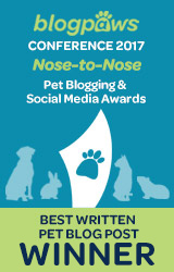Best Written Pet Blog Post badge
