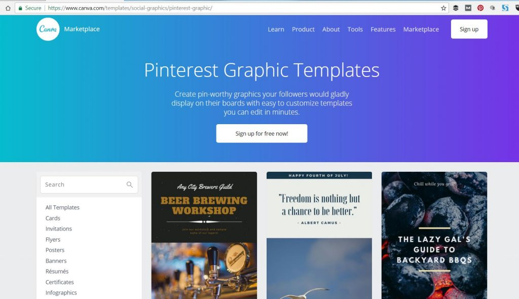 Pinnable images in Canva