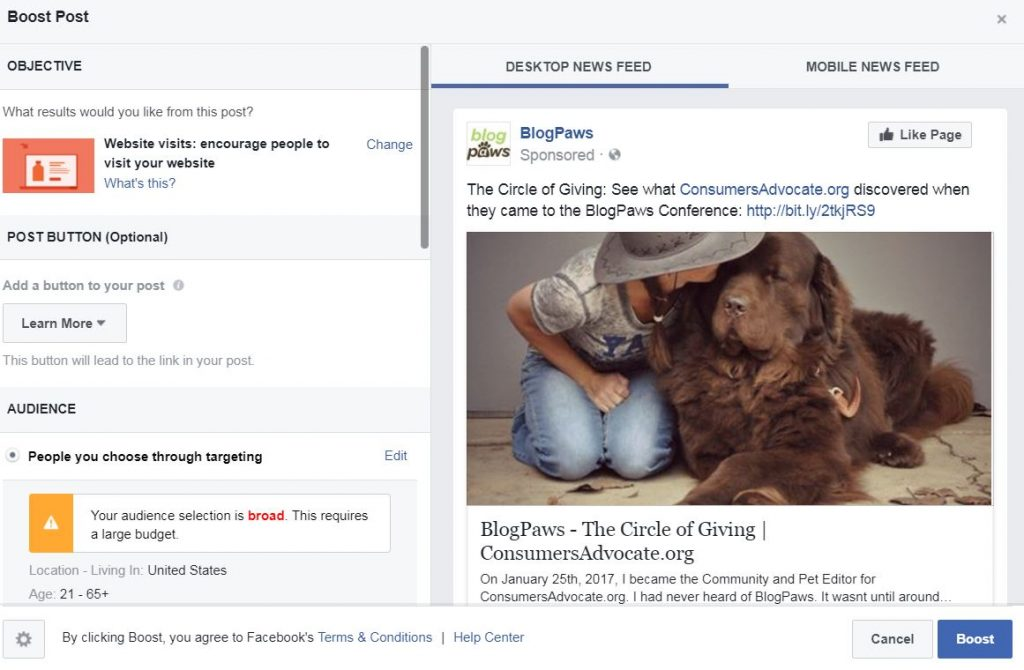 How to boost a post on Facebook