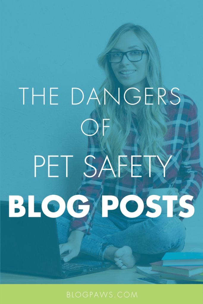 How to write about pet safety