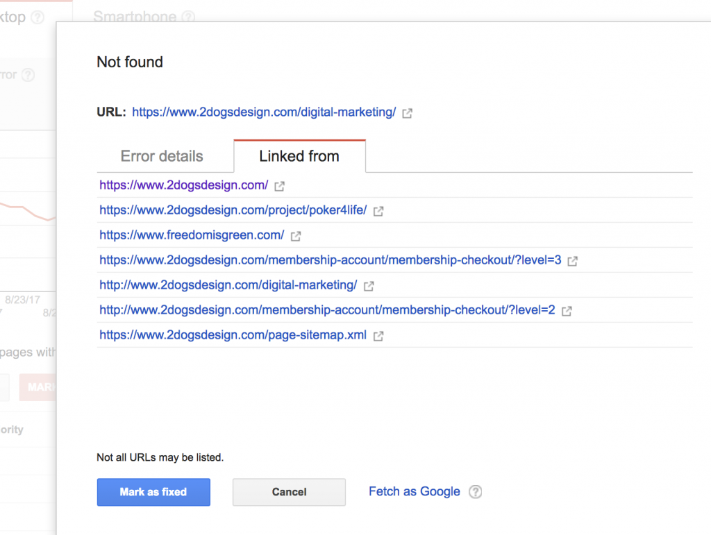 Search Console Sample Page