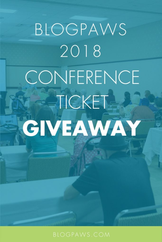 BlogPaws Conference ticket giveaway