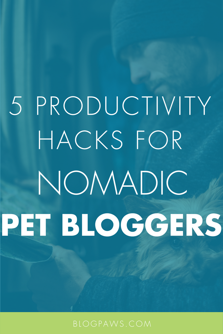 5 Productivity Hacks For Nomadic Pet Bloggers