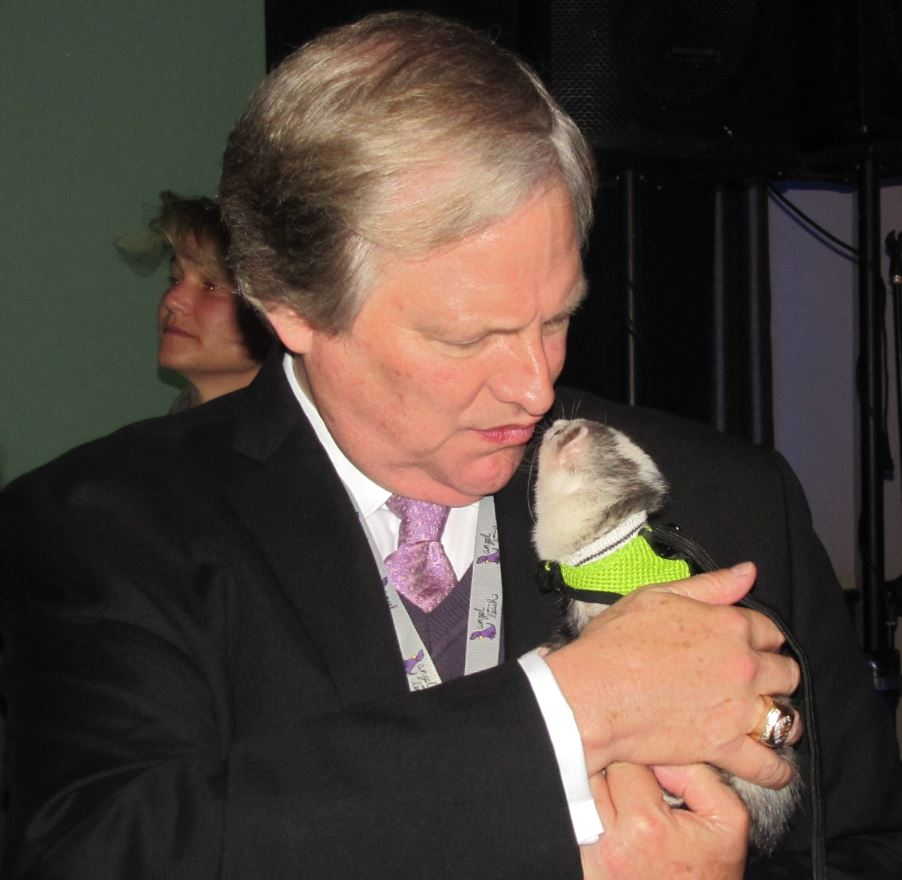 David Frei with ferret
