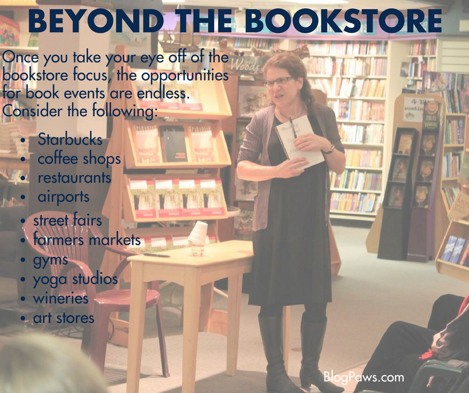 beyond the bookstore for book signings