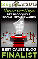 BlogPaws 2012 Nose-to-Nose Pet Blogging and Social Media Awards - Finalist: Best Cause Blog