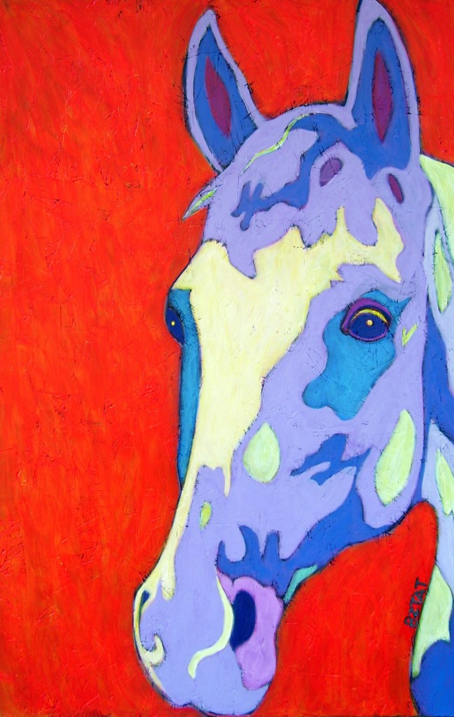 White-horse-abstract-painting-BZTAT-648x1024