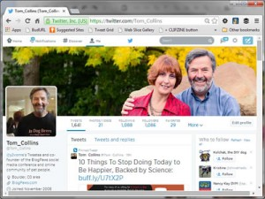 New Twitter Header - Tom Collins - June 2014 - small browser window 800 x 600