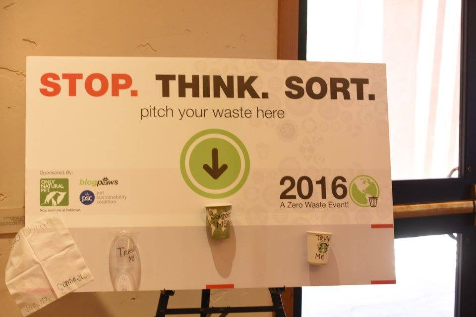 Stop think and sort: BlogPaws Zero Waste
