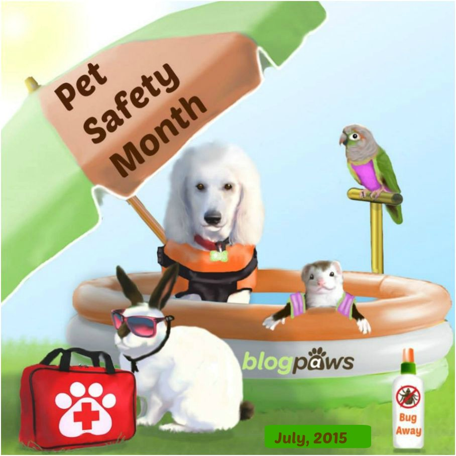 BlogPaws Pet Safety Month theme badge - July 2015