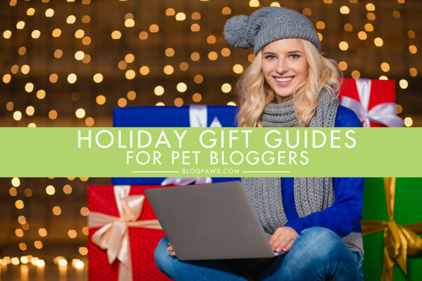 Holiday gift guides for pet bloggers hero image