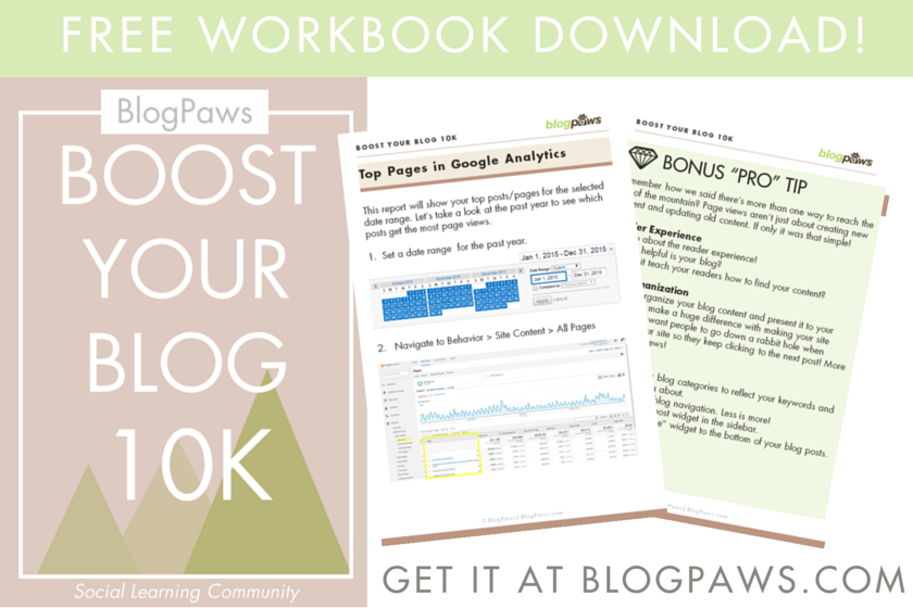 Boost Your Blog 10K Free Workbook