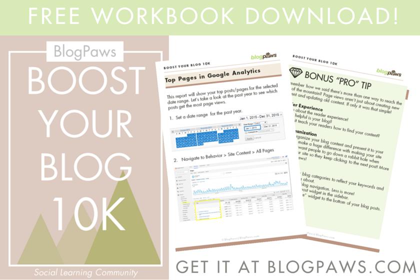 Boost Your Blog 10K Free Workbook