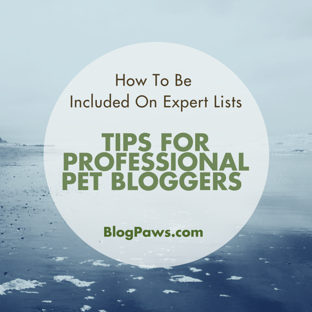 Tips for Professional Bloggers on Expert Lists