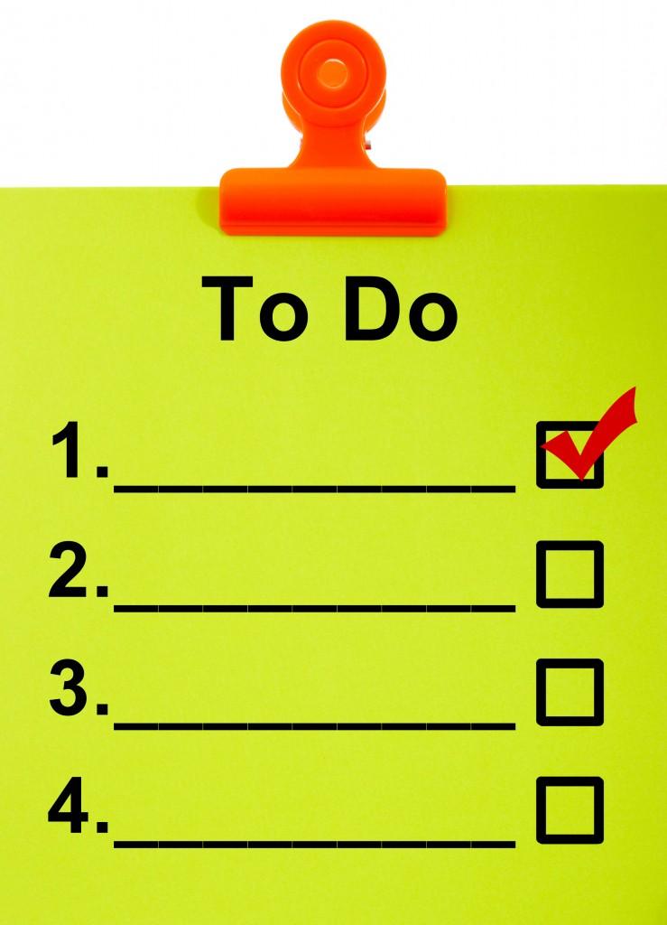 Make a list for blogging