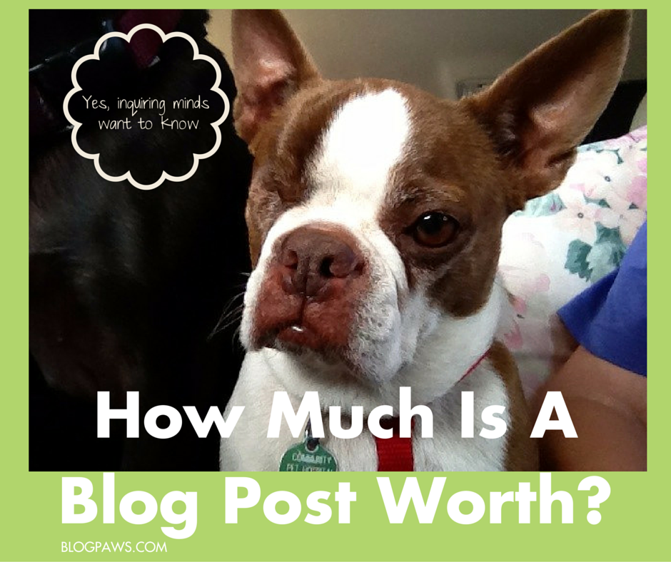 How Much is a Blog Post Worth