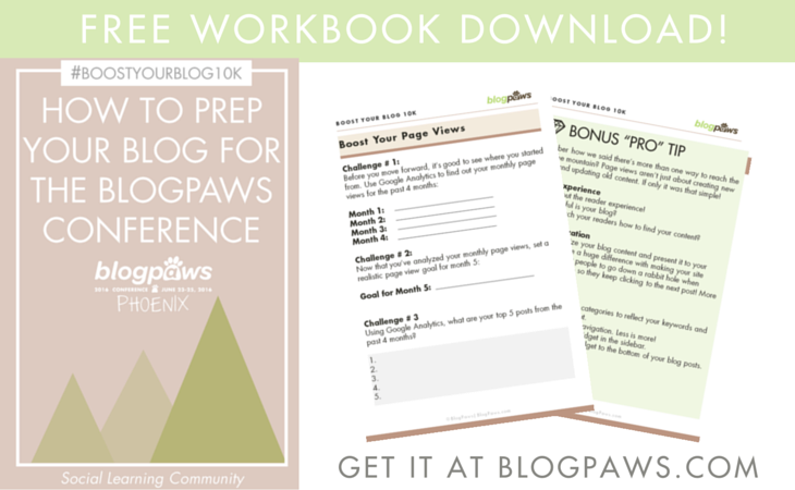 Free Workbook! How To Prep Your Blog for a Blogger Conference #BoostYourBlog10K