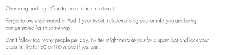 Twitter blogger tip
