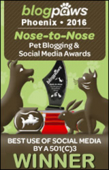 BlogPaws 2016 Nose-to-Nose Awards - Best Use of Social Media by a 501c3 Winner
