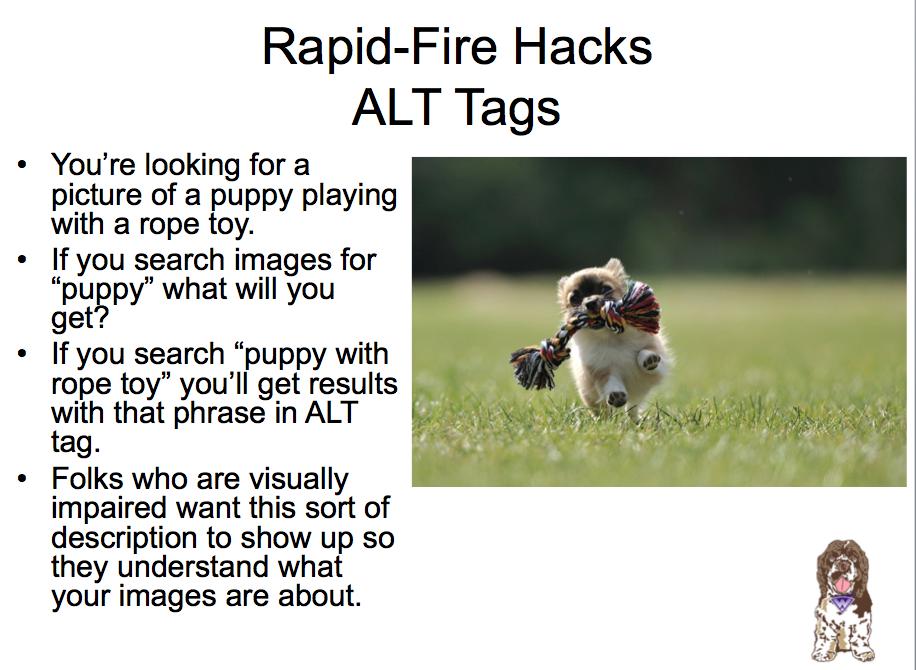 ALT text on images tip