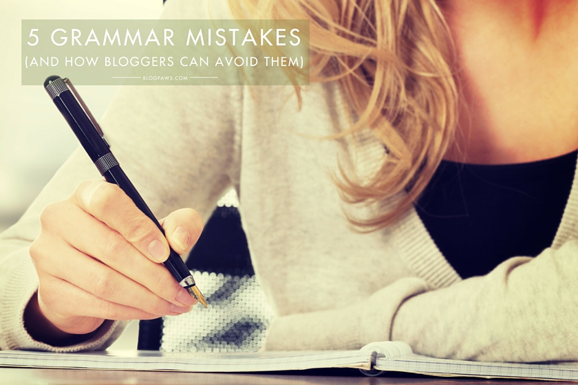 5 common grammar errors
