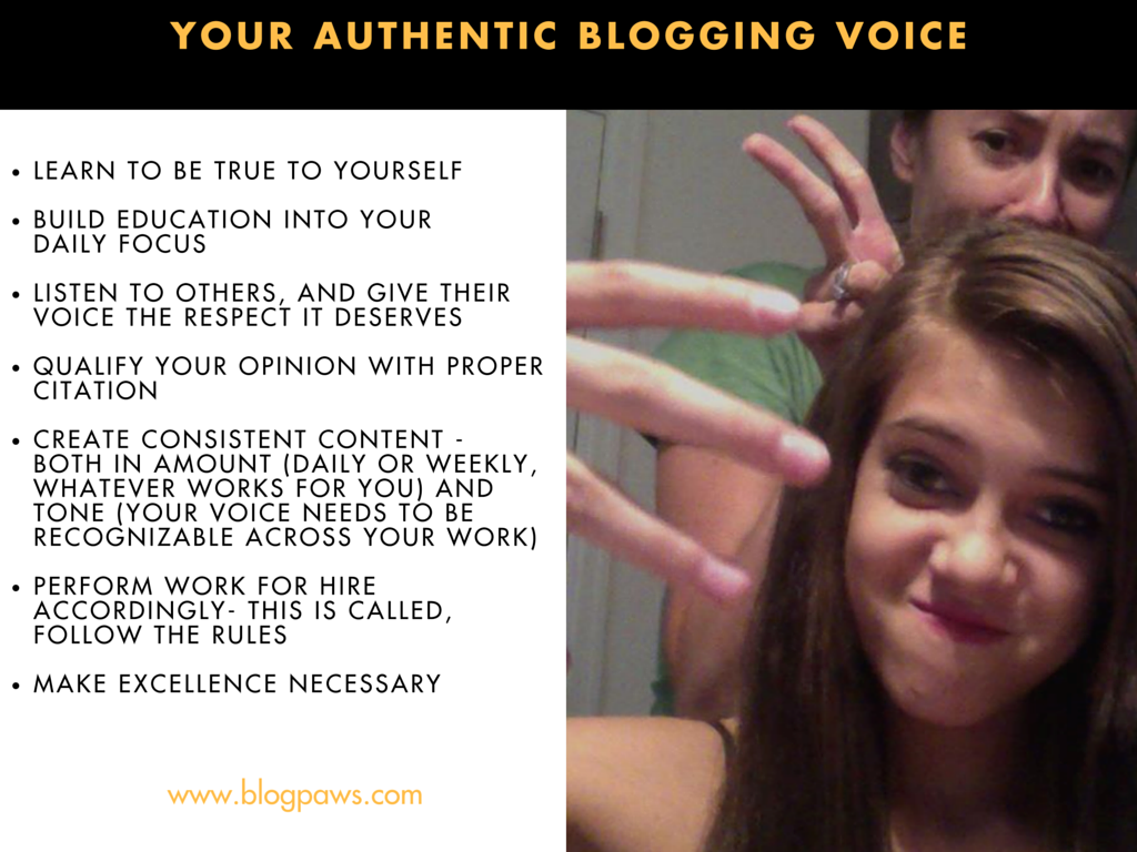 Your Authentic Blogging Voice