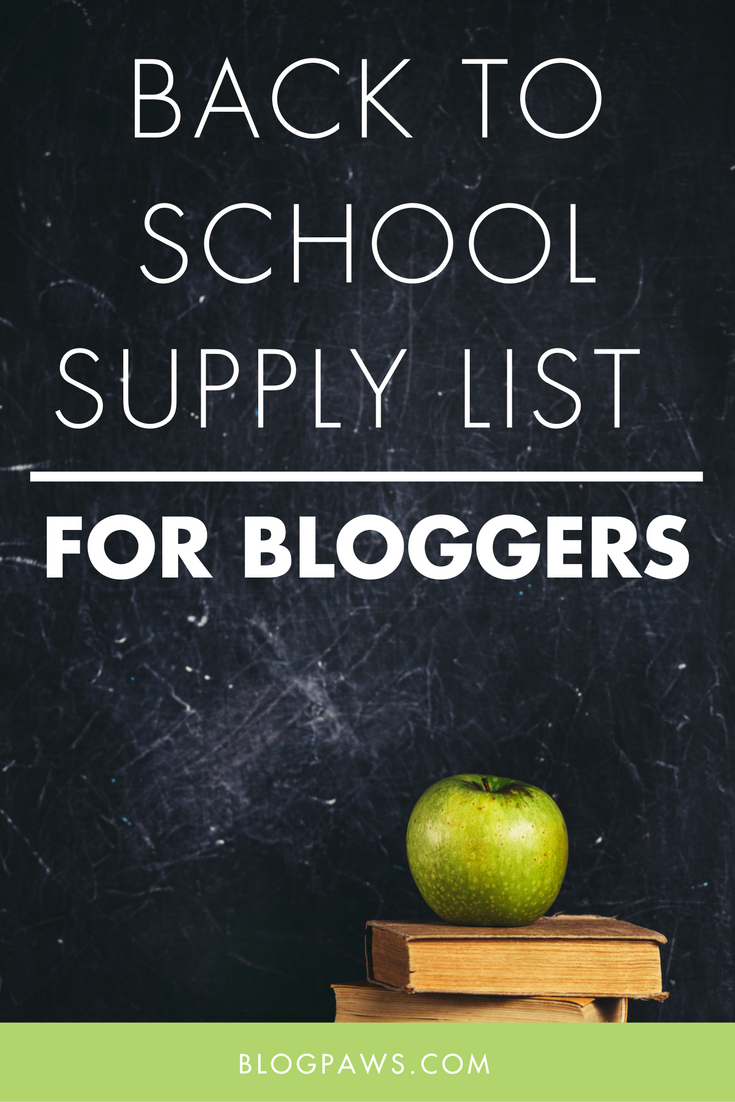 Back to School Supply List for Bloggers