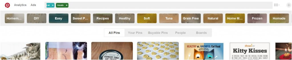 Guided Search for cat treats on Pinterest