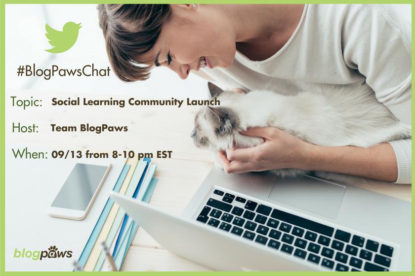 RSVP #BlogPawsChat Social Learning Community
