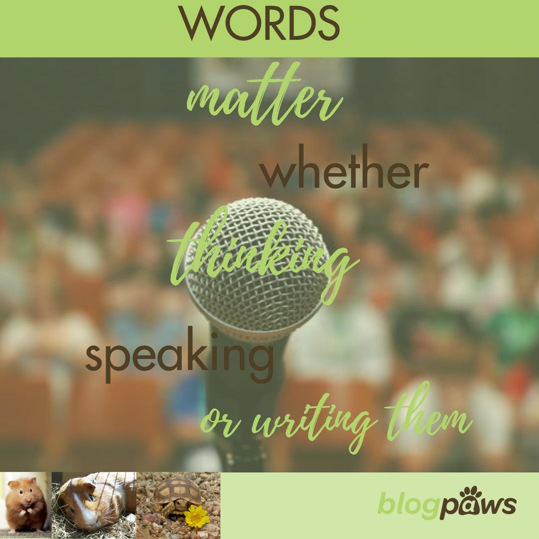 Words Matter Thinking Speaking or Writing