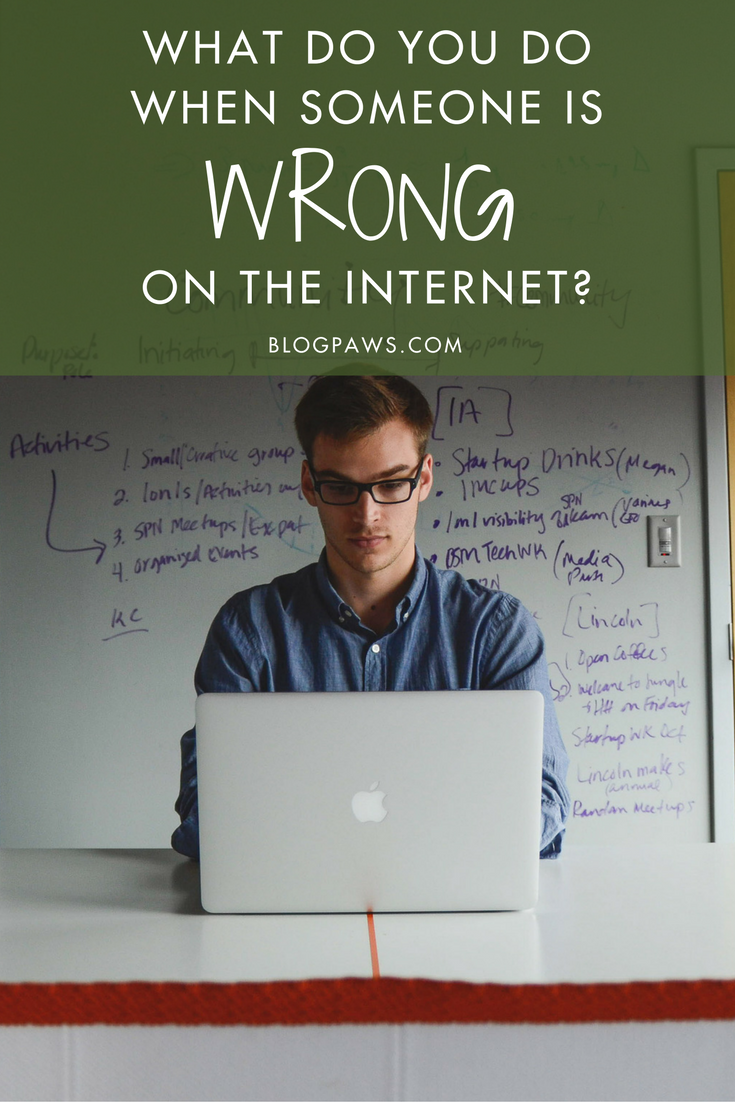 What Do You Do When Someone is Wrong on the Internet-- BlogPaws.com